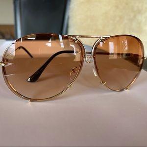 Royal Laguna Gradient Oversized Aviator Sunglasses